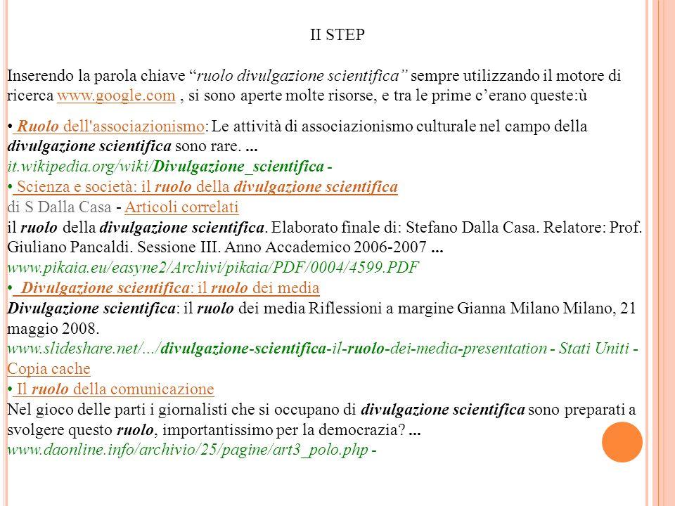 II STEP