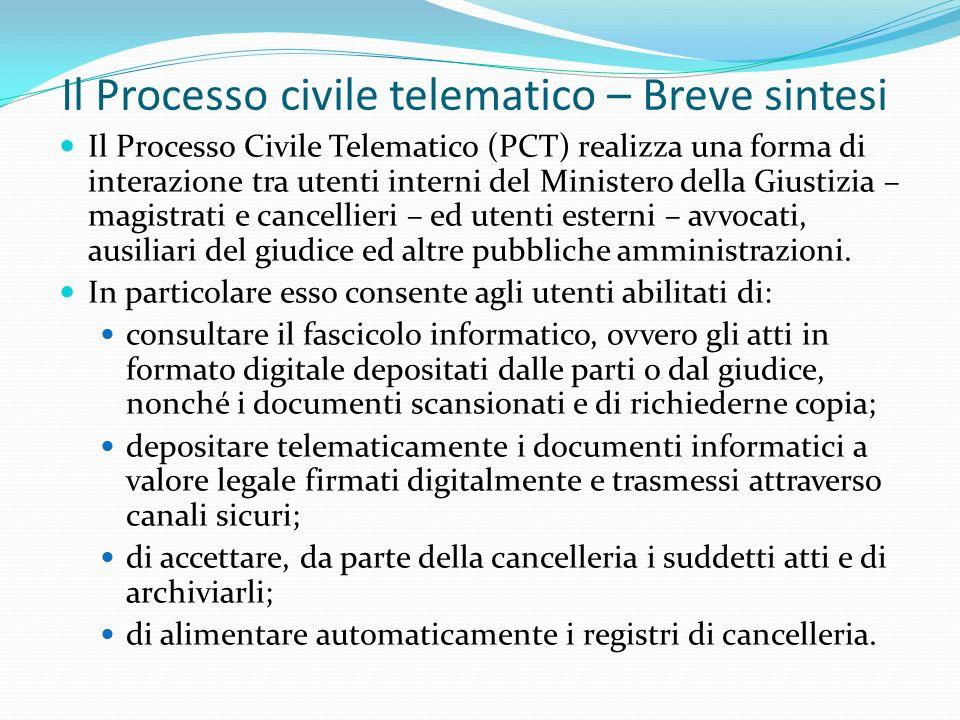 Il Processo civile telematico – Breve sintesi