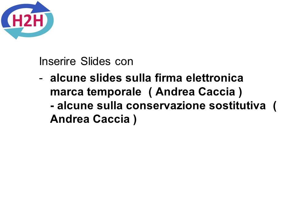 Inserire Slides con