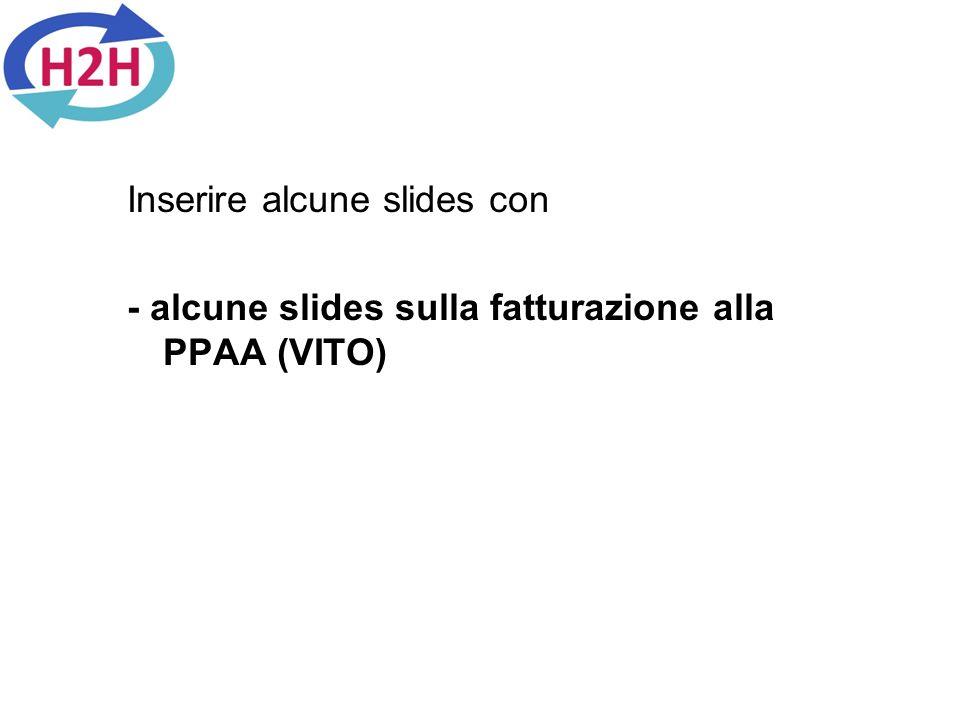 Inserire alcune slides con - alcune slides sulla fatturazione alla PPAA (VITO)