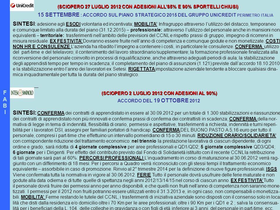 (SCIOPERO 2 LUGLIO 2012 CON ADESIONI AL 90%)