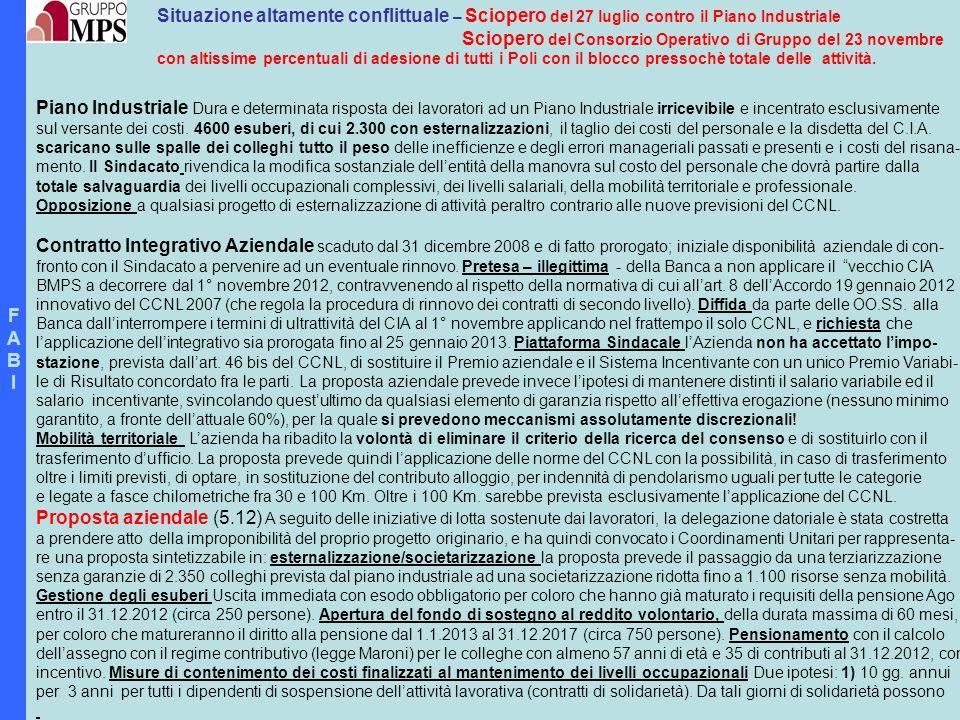 Sciopero del Consorzio Operativo di Gruppo del 23 novembre