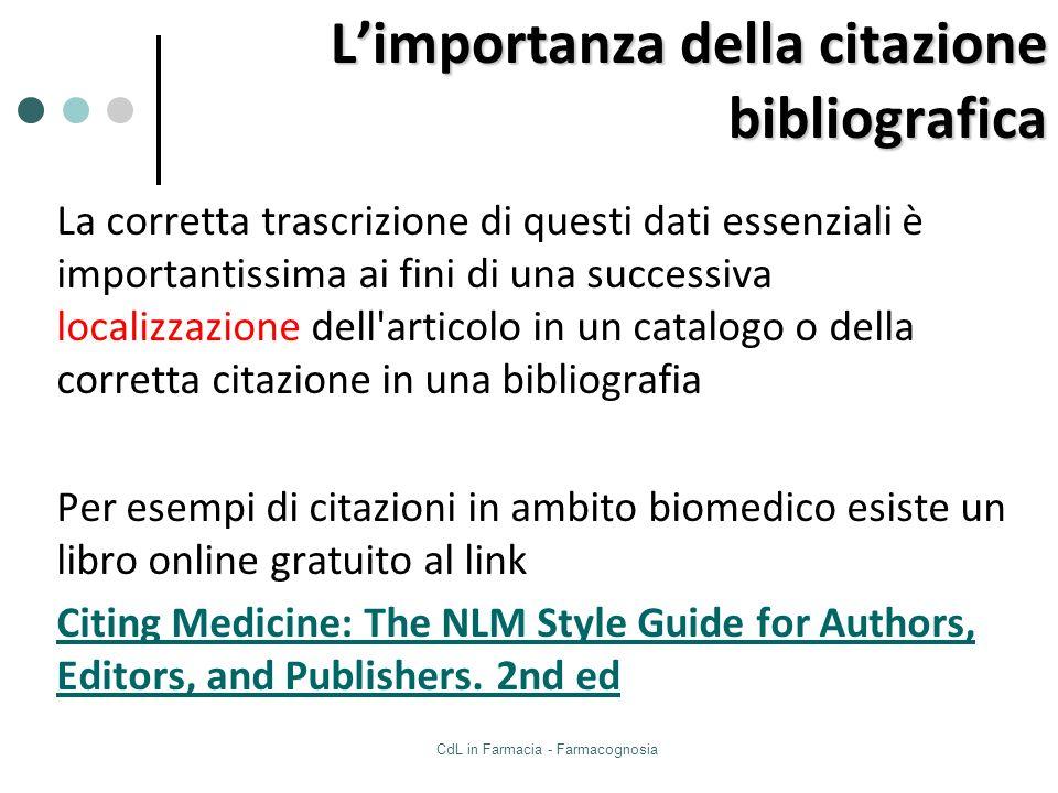L'importanza della citazione bibliografica
