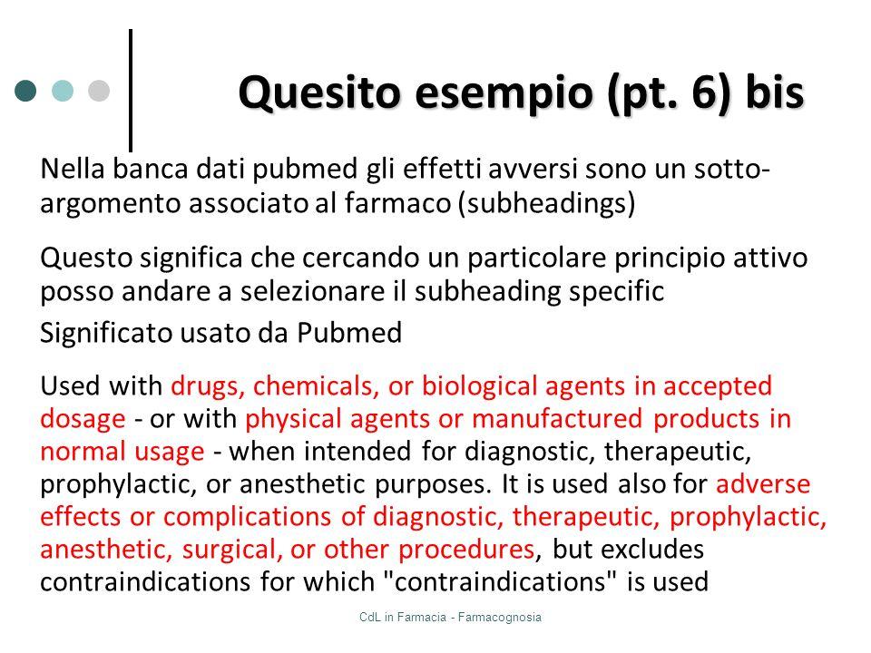 Quesito esempio (pt. 6) bis