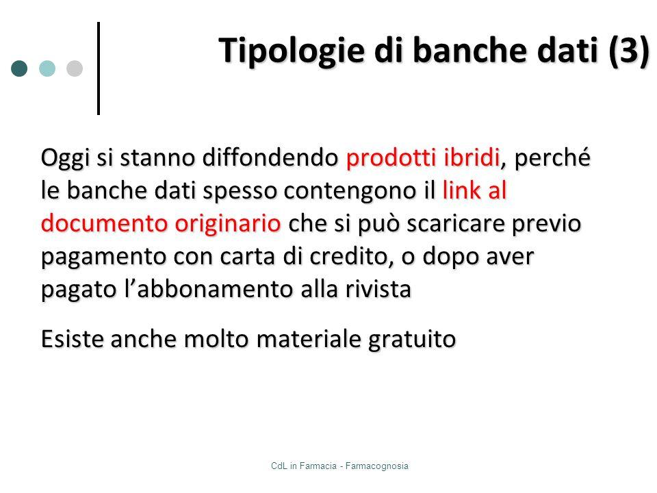 Tipologie di banche dati (3)
