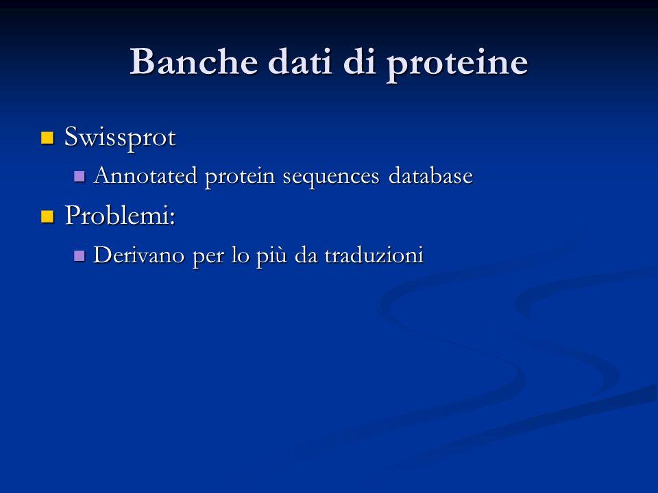 Banche dati di proteine