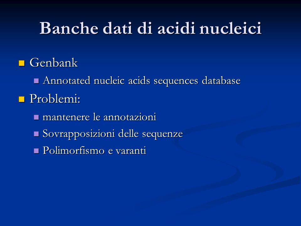 Banche dati di acidi nucleici