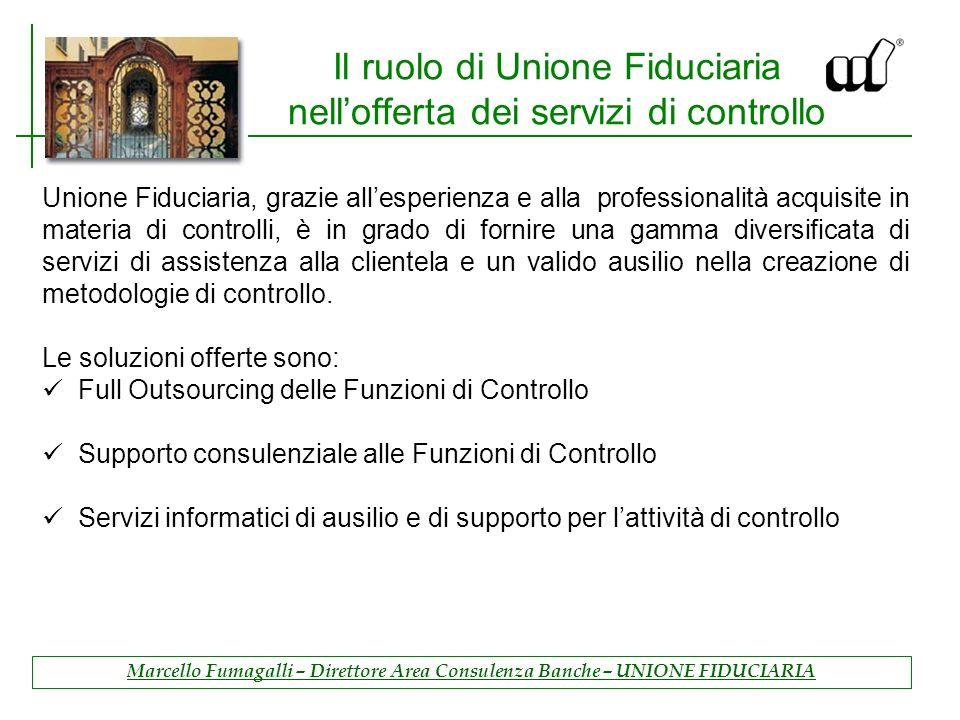 Il ruolo di Unione Fiduciaria nell'offerta dei servizi di controllo