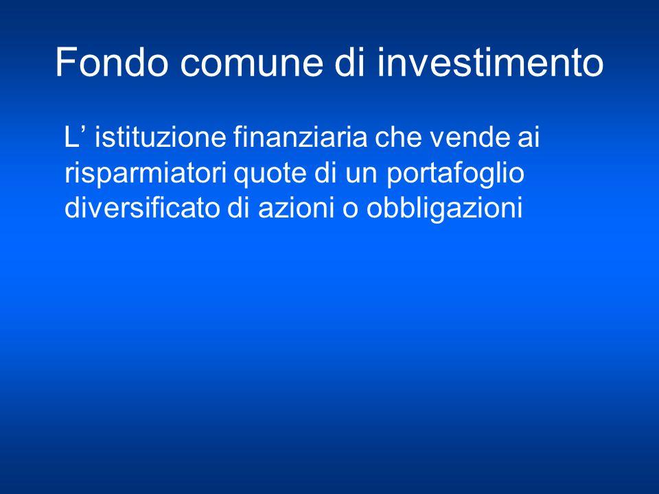 Fondo comune di investimento