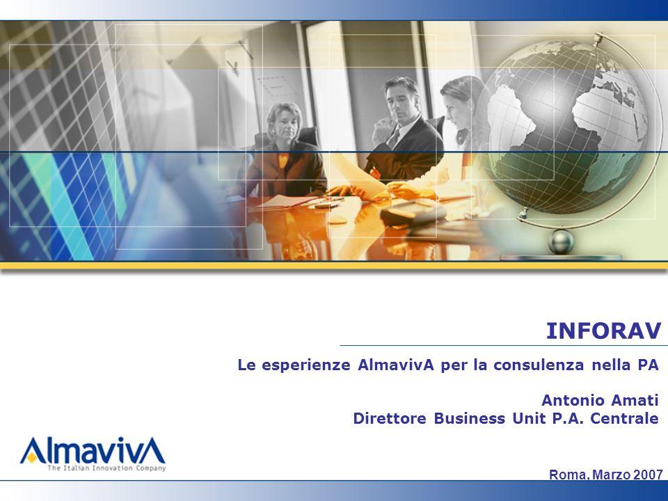 INFORAV Le esperienze AlmavivA per la consulenza nella PA