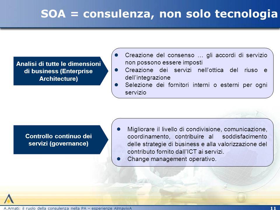 SOA = consulenza, non solo tecnologia