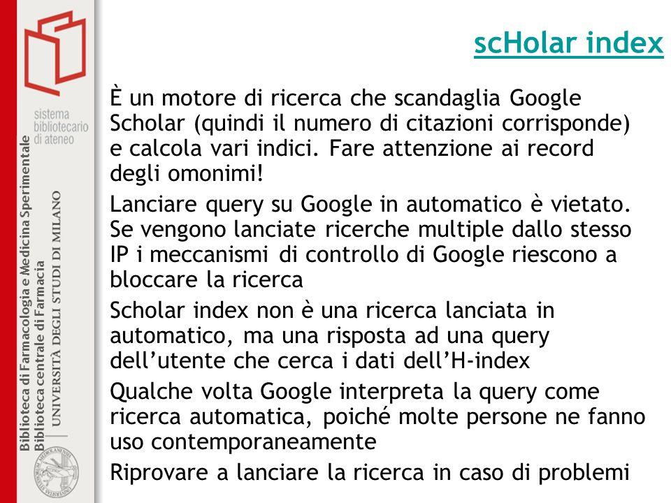 scHolar index