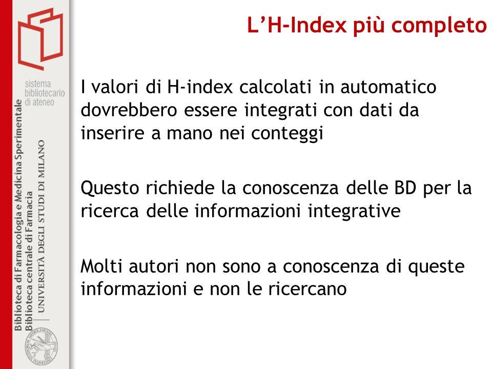L'H-Index più completo