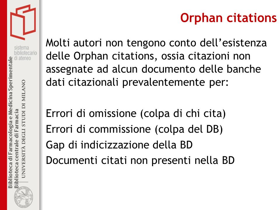 Orphan citations