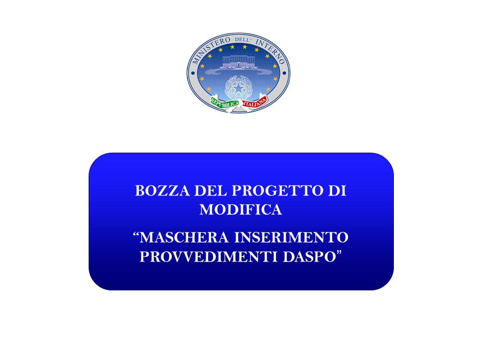BOZZA DEL PROGETTO DI MODIFICA