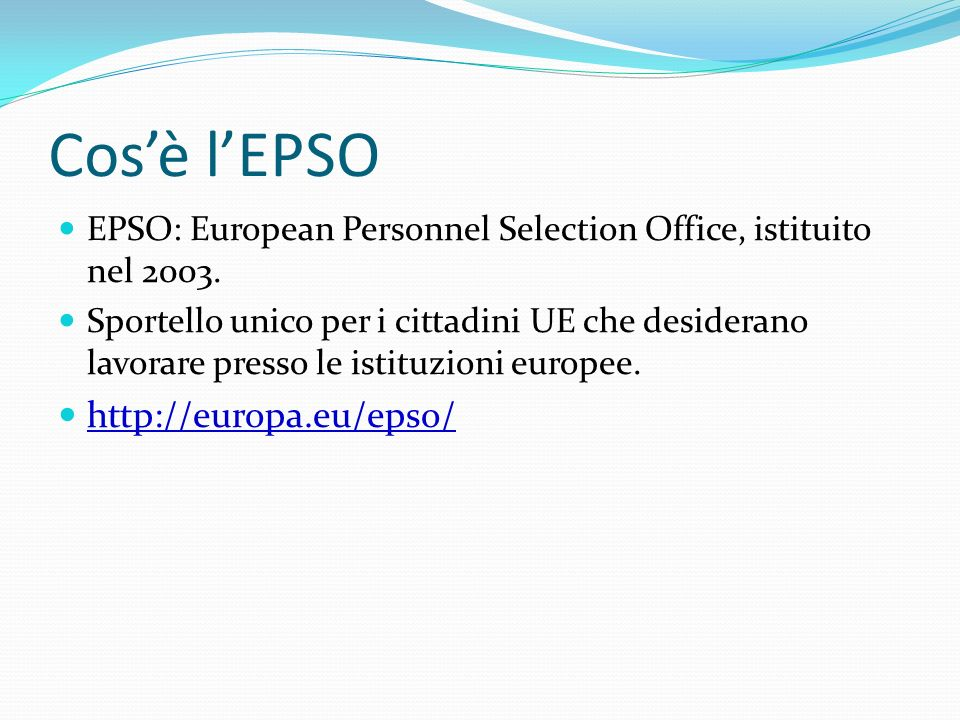 Le istituzioni europee ppt video online scaricare - European personnel selection office epso ...