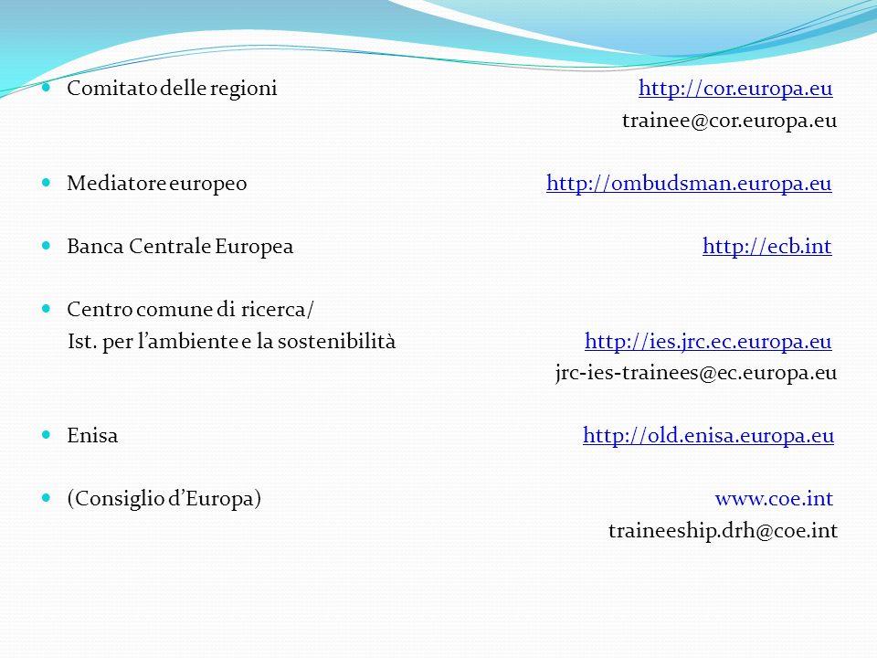 Comitato delle regioni http://cor.europa.eu
