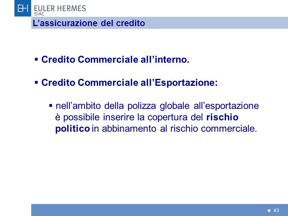 Credito Commerciale all'interno. Credito Commerciale all'Esportazione: