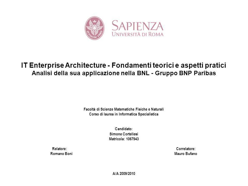 IT Enterprise Architecture - Fondamenti teorici e aspetti pratici