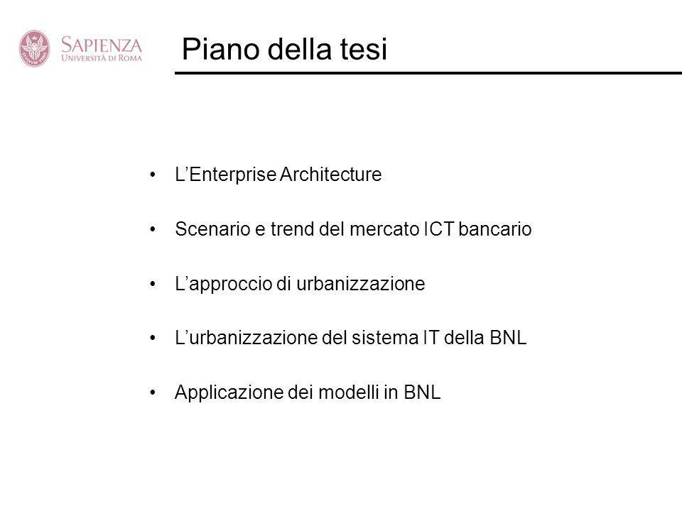 Piano della tesi L'Enterprise Architecture