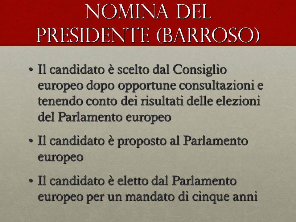 NOMINA DEL PRESIDENTE (Barroso)