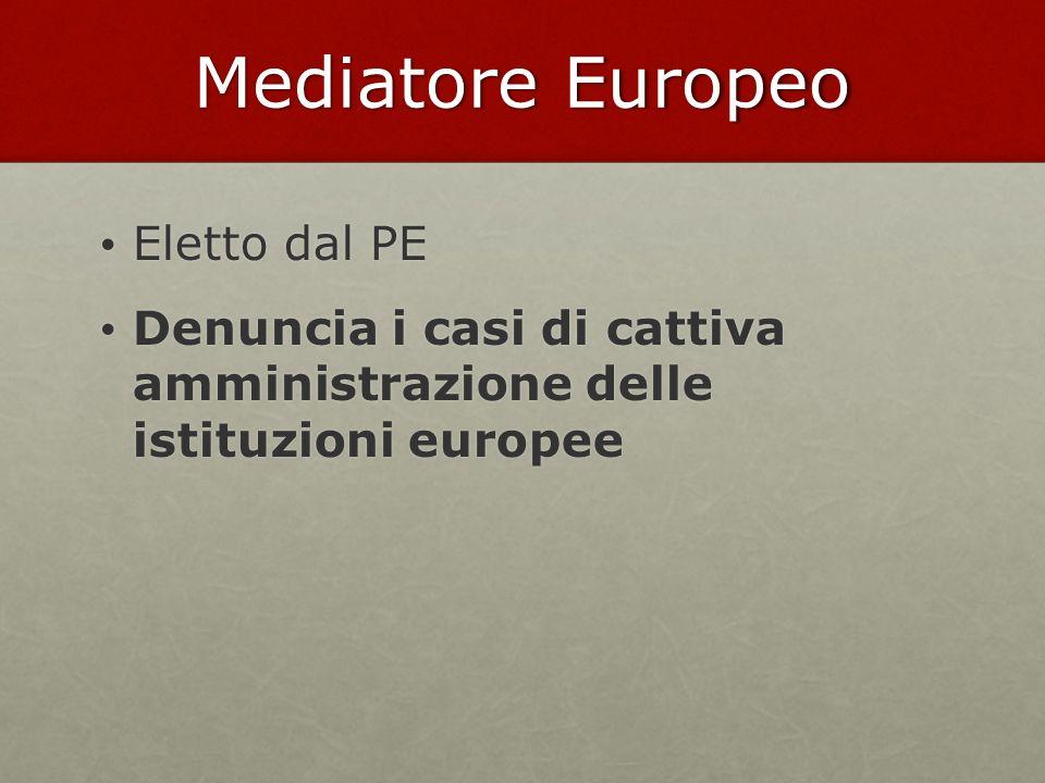 Mediatore Europeo Eletto dal PE