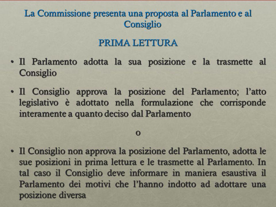 La Commissione presenta una proposta al Parlamento e al Consiglio