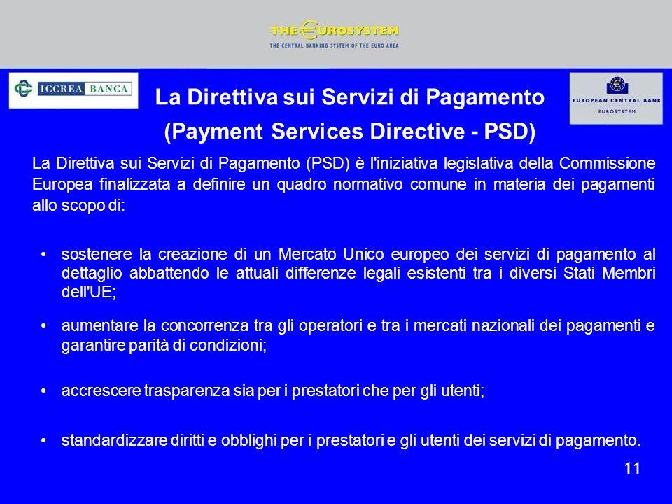 La Direttiva sui Servizi di Pagamento (Payment Services Directive - PSD)