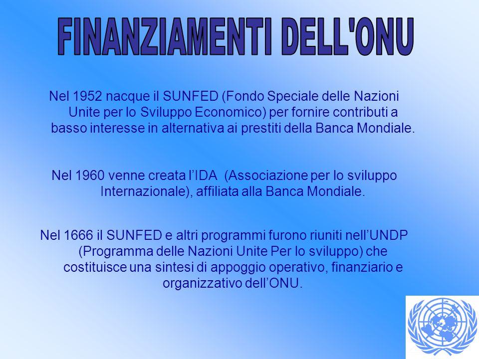 FINANZIAMENTI DELL ONU