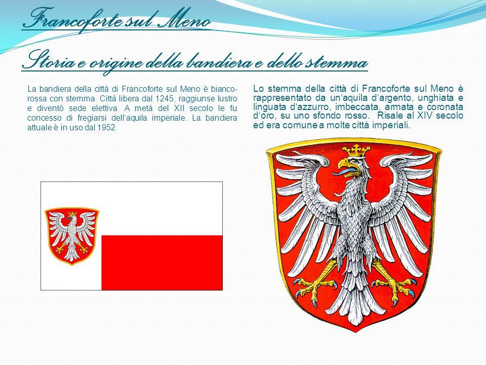 Francoforte sul Meno Storia e origine della bandiera e dello stemma