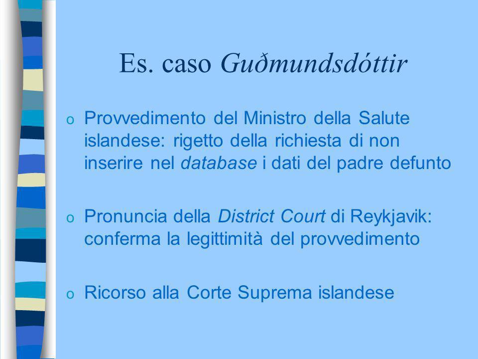 Es. caso Guðmundsdóttir