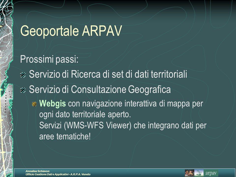 Geoportale ARPAV Prossimi passi:
