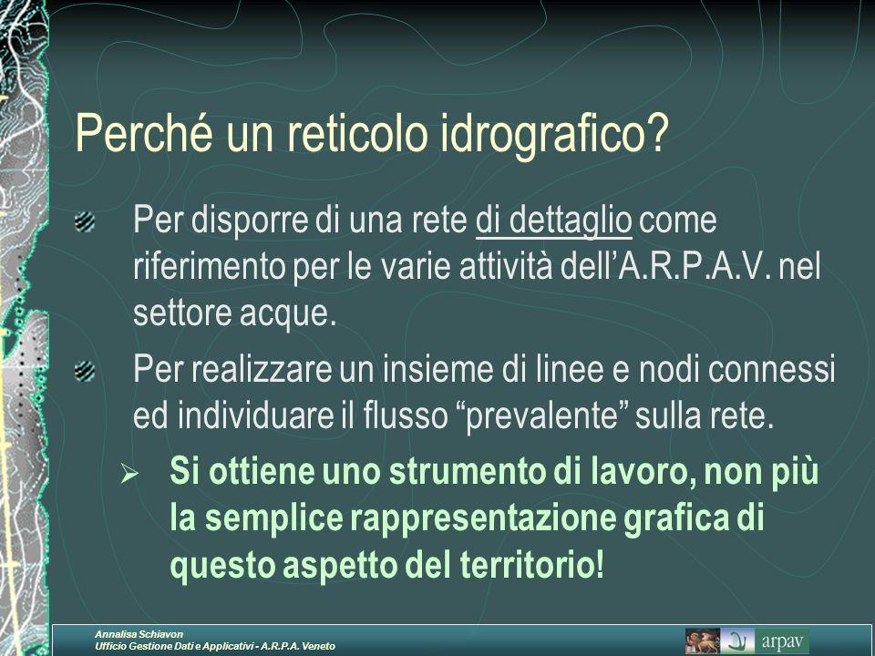 Perché un reticolo idrografico