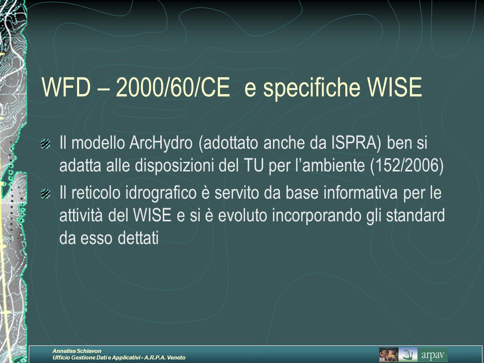 WFD – 2000/60/CE e specifiche WISE