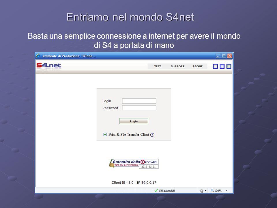 Entriamo nel mondo S4net