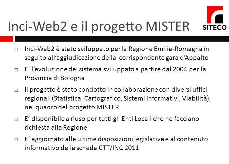 Inci-Web2 e il progetto MISTER