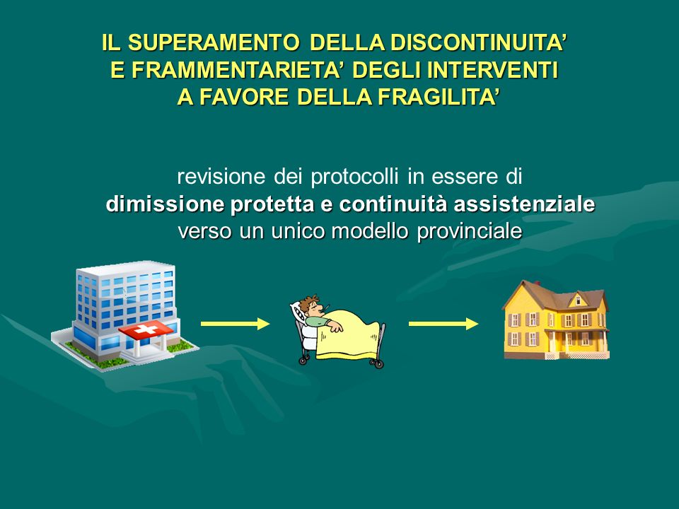 IL SUPERAMENTO DELLA DISCONTINUITA' E FRAMMENTARIETA' DEGLI INTERVENTI