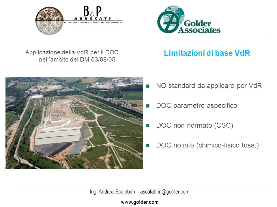 Limitazioni di base VdR