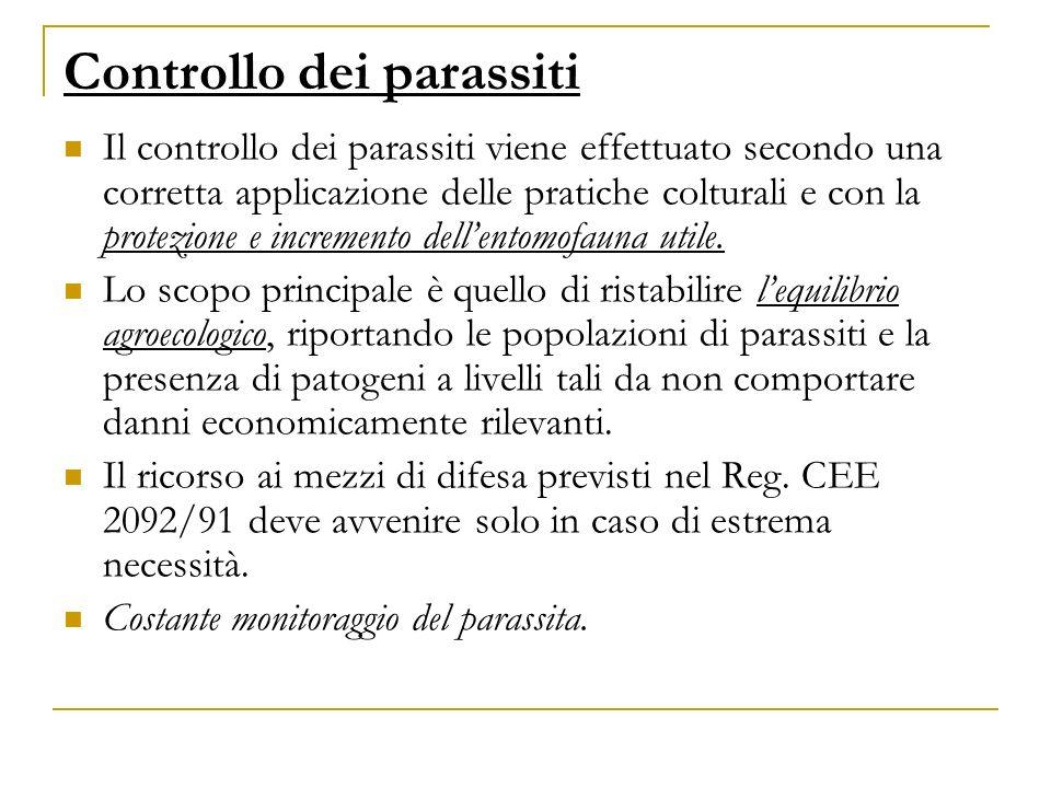 Controllo dei parassiti