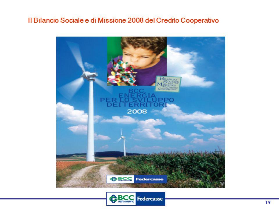 Il Bilancio Sociale e di Missione 2008 del Credito Cooperativo