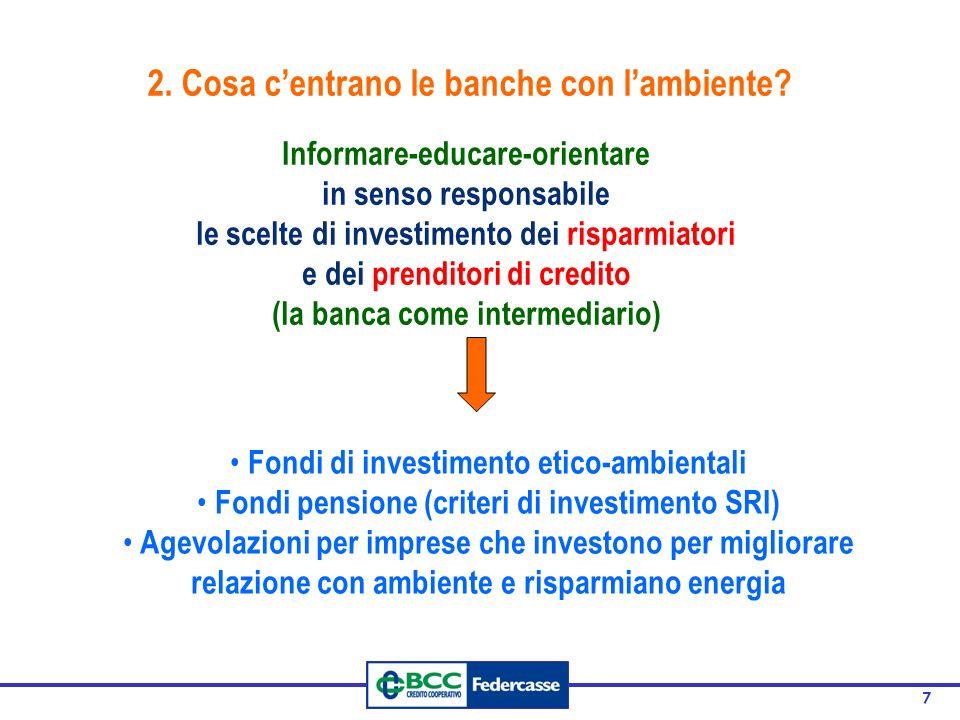 2. Cosa c'entrano le banche con l'ambiente