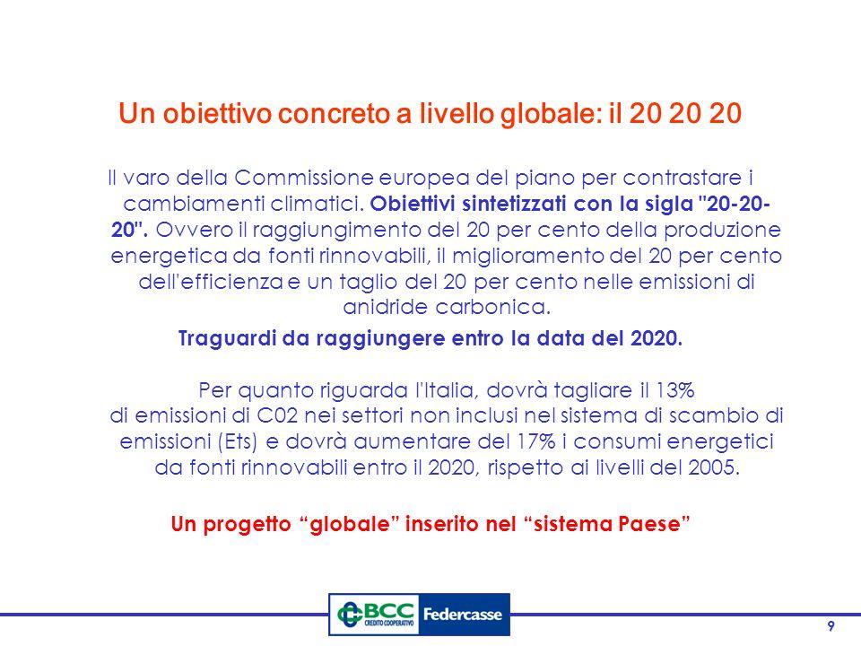 Un obiettivo concreto a livello globale: il 20 20 20