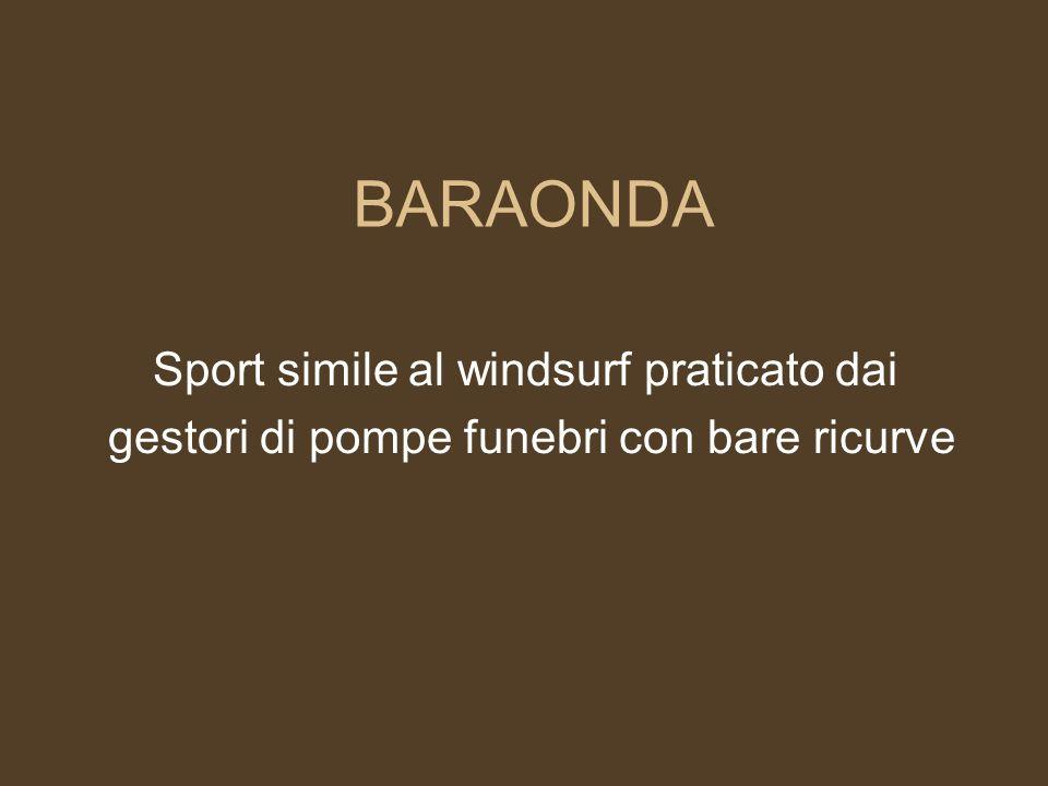 BARAONDA Sport simile al windsurf praticato dai