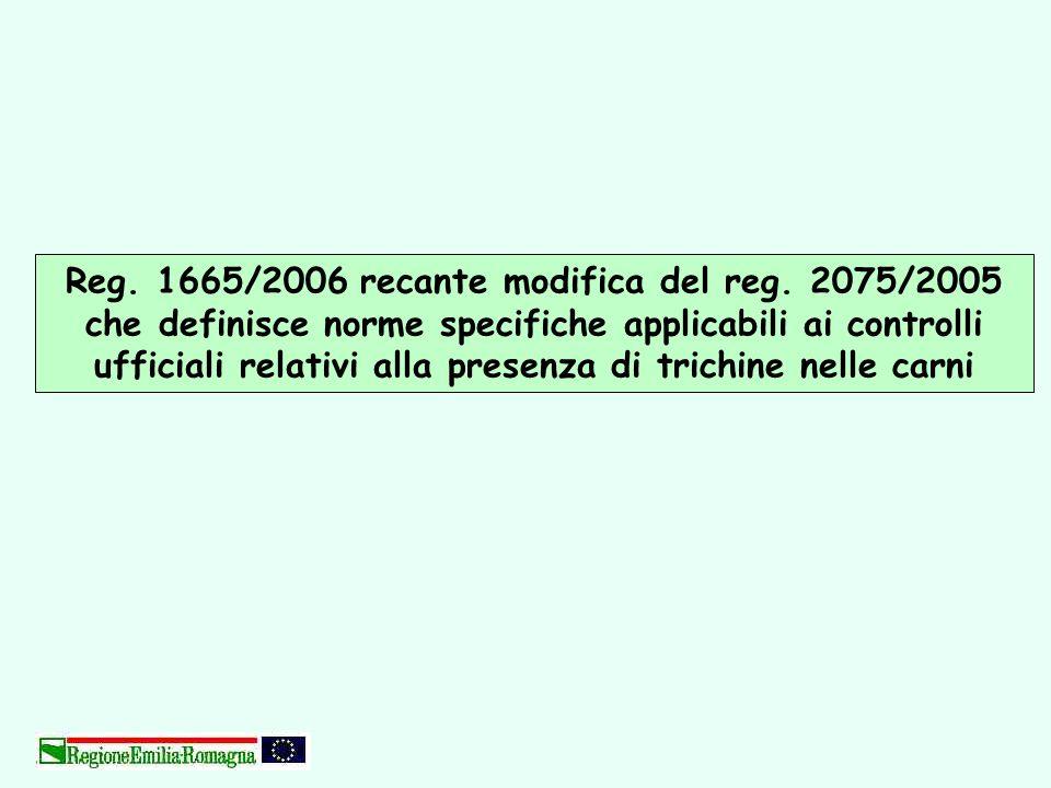 Reg. 1665/2006 recante modifica del reg