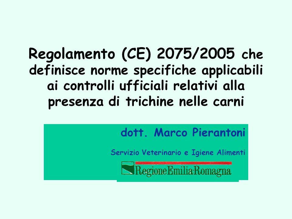 dott. Marco Pierantoni Servizio Veterinario e Igiene Alimenti