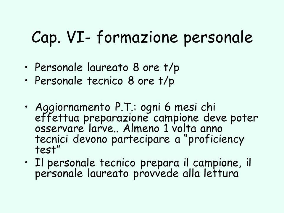 Cap. VI- formazione personale