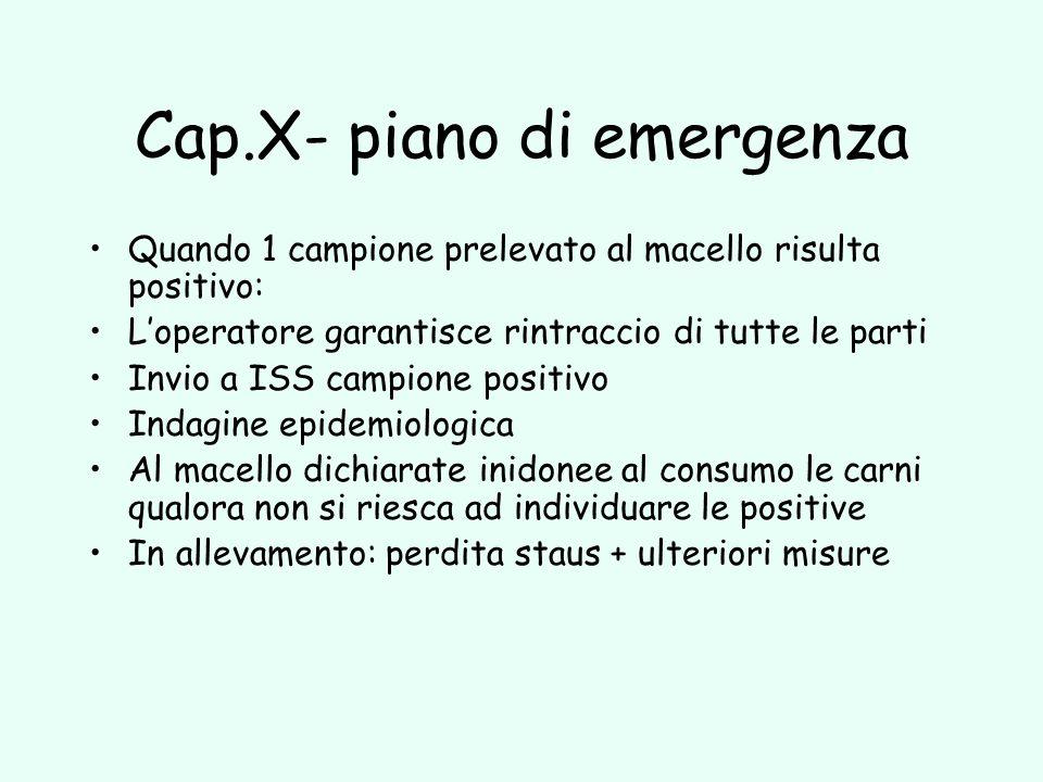 Cap.X- piano di emergenza