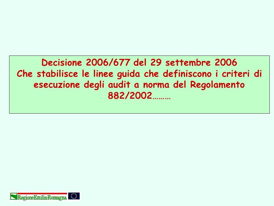 Decisione 2006/677 del 29 settembre 2006
