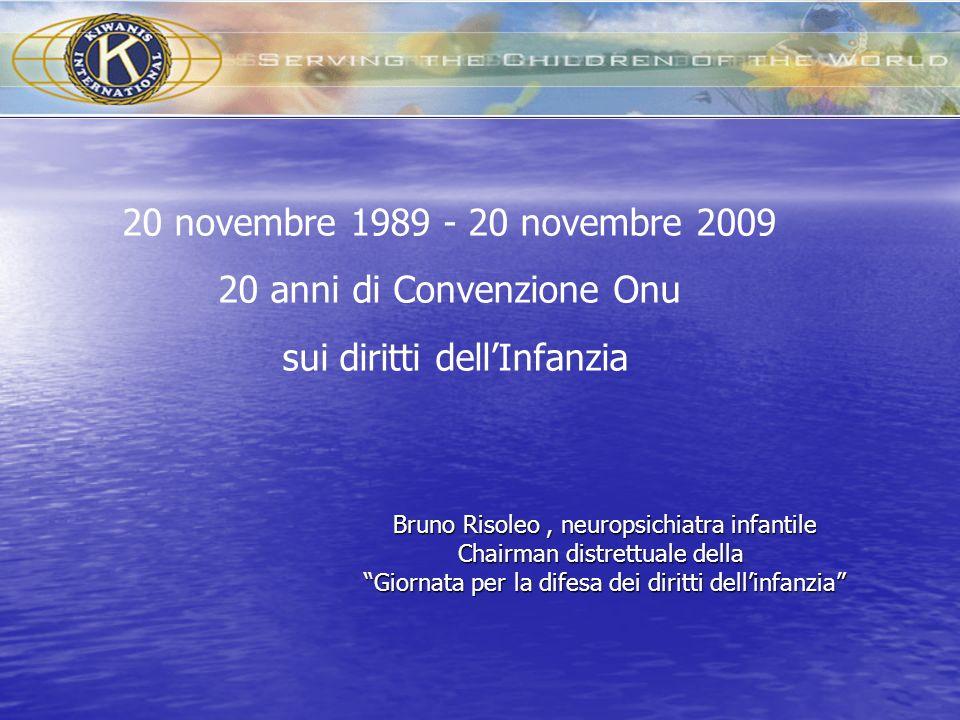 20 anni di Convenzione Onu sui diritti dell'Infanzia