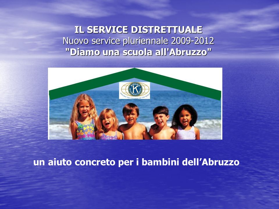 un aiuto concreto per i bambini dell'Abruzzo